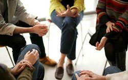 group therapy circle