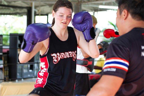 Woman Muay Thai Boxing
