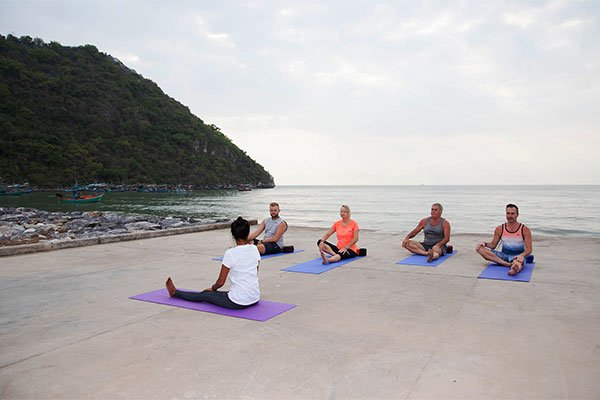 beachside yoga classes