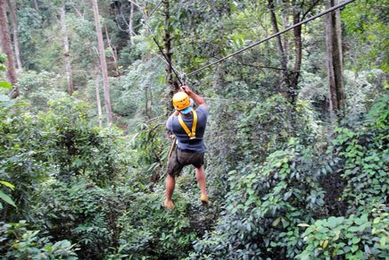thai rehab zip line tour