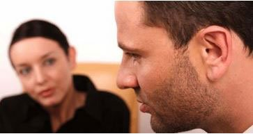 man and woman counseling session