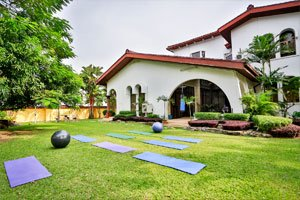 exercise and yoga area