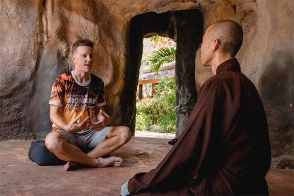meditation with monk