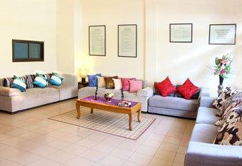 spacious communal living area
